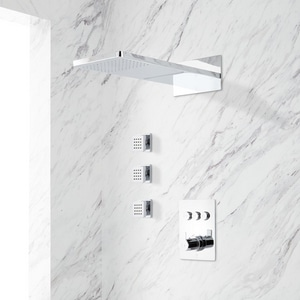 Signature Hardware Hollyn Single Handle Dual Function Shower System in Chrome SH443743