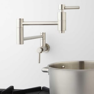 Signature Hardware Contemporary Two Handle Lever Pot Filler in Brushed Nickel SH329627