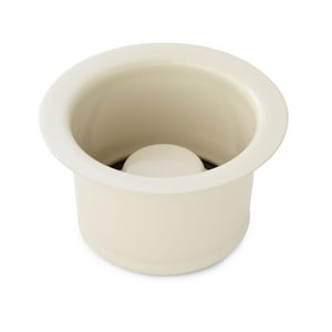 Signature Hardware 4-1/2 in. Garbage Disposer Flange and Stopper in Almond SH234769