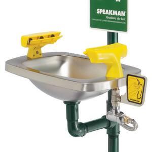 Speakman Safe-T-Zone® 13-1/2 in. 20 gpm Stay Open Emergency Shower in Green SSE603