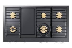 Dacor Modernist 48 in. 97000 BTU 6-Burner 6-Element Sealed Rangetop in Graphite Stainless Steel DDTT48M976LM