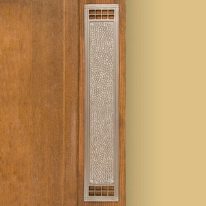 Signature Hardware Mission 3 in. Brass Push Plate in Brushed Nickel SH353838