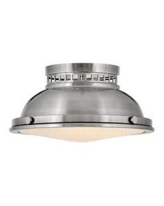 Hinkley Lighting Emery 12-4/5 in. 60W 2-Light Medium E-26 Flush Mount Ceiling Fixture in Polished Antique Nickel H4081PL