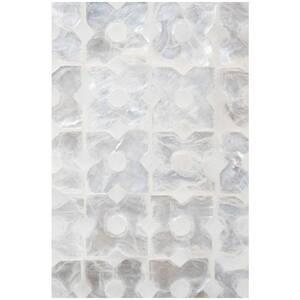 Linkasink Mother Of Pearl 24 in. Floor Mount Vanity in White with Polished Nickel LVAN24W004PN