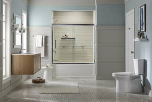 Kohler Archer® 66 x 32 in. Soaker Alcove Bathtub Left Drain in White K1948-LA