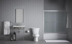 KOHLER Villager® 60 x 30-1/4 in. Soaker Alcove Bathtub Left Drain in Almond K715-47