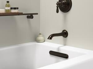 KOHLER Underscore® 60 x 30 in. Soaker Alcove Bathtub with Right Drain in White K20201-RA-0
