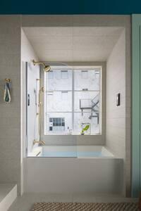 KOHLER Underscore® 60 x 30 in. Soaker Alcove Bathtub with Left Drain in White K20201-LA-0