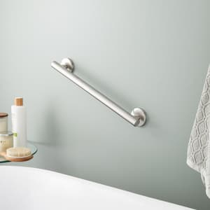 Signature Hardware Contemporary 1-1/4 x 18 in. Grab Bar in Brushed Nickel SHGB18CBN