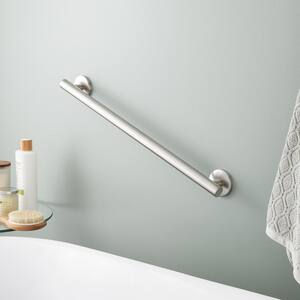 Signature Hardware Contemporary 1-1/4 x 24 in. Grab Bar in Brushed Nickel SHGB24CBN