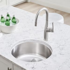 Blanco America Rondo™ 18-1/8 x 18-1/8 in. Drop-in Stainless Steel Bar Sink in Satin Polished B513652