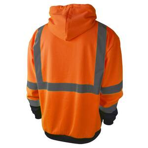 Radians Radwear™ M Size Polyester Sweatshirt with Zipper in Hi-Viz Green RSJ01B3ZGSM at Pollardwater