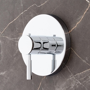 Signature Hardware Edenton Thermostatic Valve Trim Only with Single Lever Handle in Polished Chrome SHED9009CP