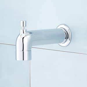 Signature Hardware Edenton Single Handle Single Function Bathtub & Shower Faucet in Polished Chrome (Trim Only) SHED8030GCP