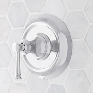 Signature Hardware Beasley Pressure Balance Valve Trim with Single Lever Handle in Polished Chrome SHBE8010CP