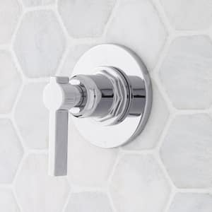 Signature Hardware Greyfield Single Handle Bathtub & Shower Faucet in Polished Chrome (Trim Only) SHGF9005CP