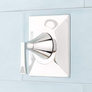 Signature Hardware Vilamonte 3-11/16 in. Wall Mount Non-Thermostatic Valve Trim in Polished Nickel SHVL8010PN