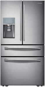 Samsung 35-3/4 in. 29.1 cf 4-Door Freestanding French Door Refrigerator in Stainless Steel SRF31FMESBSR