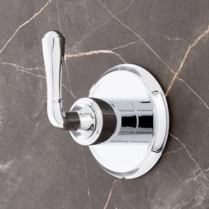 Signature Hardware Key West Single Lever Handle Transfer Valve Trim in Polished Chrome SHKW9005CP