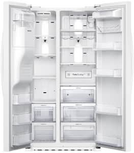 Samsung 22.3 cf Counter Depth Side-by-Side Refrigerator with In-Door Ice Maker in White SRS22HDHPNWWAA