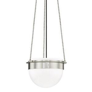 Hudson Valley Lighting Silo 75W 1-Light Medium E-26 LED Pendant in Polished Nickel HUD7715PN