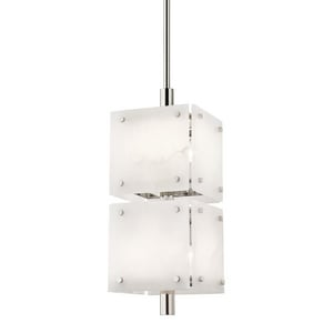 Hudson Valley Lighting Paladino 40W 8-Light Candelabra E-12 LED Pendant in Polished Nickel HUD4052PN