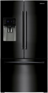 Samsung 35-3/4 in. 24.6 cf French Door Refrigerator in Black SRF263BEAEBC