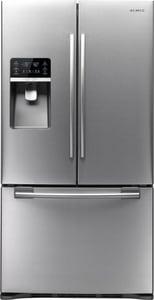 Samsung 35-3/4 in. 29 cf 3-Door Freestanding French Door Refrigerator in Stainless Steel SRFG297HDRS