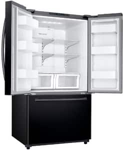 Samsung 25.5 cf French Door Refrigerator with Twin Cooling in Black SRF26HFENDBCAA