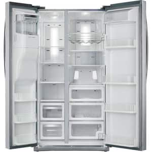 Samsung 25.5 cf Side-by-Side Refrigerator with External Dispenser in Stainless Steel SRS265TDRSXAA