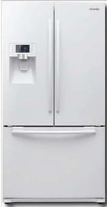 Samsung 35-3/4 in. 23 cf French Door Bottom Mount Refrigerator with Dispenser in Stainless Steel SRFG237AAWP