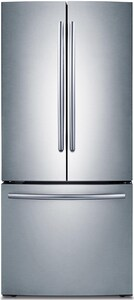 Samsung 21.6 cf 115V French Door Refrigerator with Integrated Ice Maker in Stainless Steel SRF220NCTASRAA
