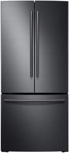 Samsung 21.6 cf 115V French Door Refrigerator with Integrated Ice Maker in Black Stainless Steel SRF220NCTASGAA
