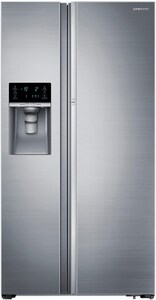 Samsung Food ShowCase 21.5 cf Counter Depth Side-by-Side Refrigerator in Stainless Steel SRH22H8010SRAA