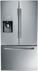 Samsung 35-3/4 in. 30.5 cf Freestanding French Door Bottom Mount Freezer Refrigerator in Stainless Steel SRF323TEDBSR