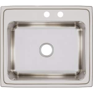 Elkay Gourmet® 2 Hole Single Bowl Top Mount Kitchen Sink with Center Drain EDLR252210MR2