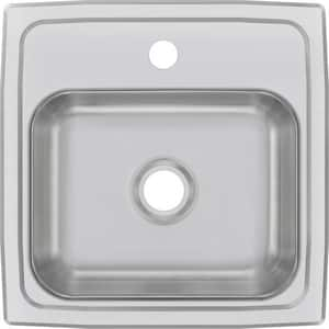 Elkay Celebrity® 15 x 15 in. 1 Hole Drop-in Stainless Steel Bar Sink in Brushed Satin EBPSR151