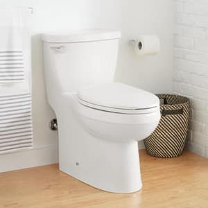 Signature Hardware Bradenton 1.28 gpf Elongated One Piece Toilet in White SHBD241SWH