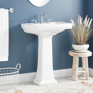 Signature Hardware Key West Pedestal Only in White SHKW350WH