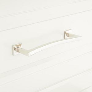 Signature Hardware Arvo 7/8 x 5 in. Brass Cabinet Pull in Oil Rubbed Bronze SH441759