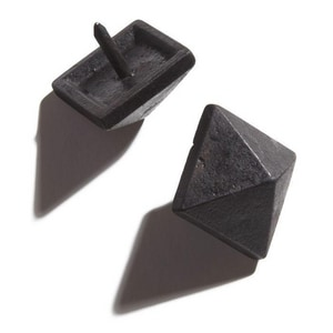 Signature Hardware Pyramid 1 in. Hand Forged Iron Clavos in Black SH339390