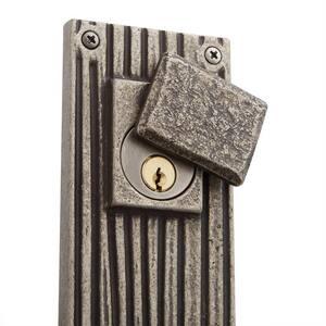 Signature Hardware Shima Bronze Rectangular Entrance Door Set with Lever Handle in Antique Pewter SH441310