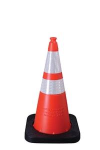 VizCon Enviro-Cone® 28 in. 7 lb. Cone with Reflective Collar in Orange, White and Black V16028HIWB7 at Pollardwater