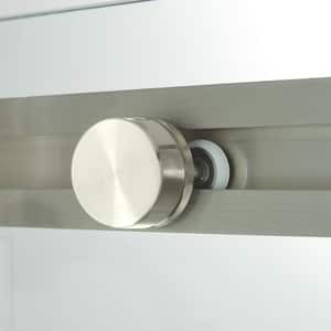 Signature Hardware Limrock 4-1/2 in. Framed Sliding Shower Door in Brushed Nickel SH450062