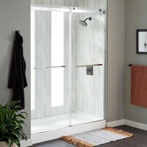 Signature Hardware Limrock 4-1/2 in. Framed Sliding Shower Door in Polished Chrome SH450063