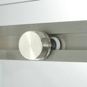 Signature Hardware Limrock 63 in. Sliding Tub Door in Brushed Nickel SH450059