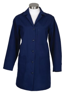 ERB Safety S Size 65/35 Poly Poplin Female Lab Coat in Navy ERB83357 at Pollardwater