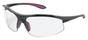 ERB Safety Ella Polycarbonate and Nylon Grey Safety Glass with Clear Lens ERB18622 at Pollardwater