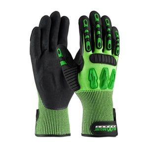 Maximum Safety® Tuffmax3™ L Size Nitrile Polyethylene and Thermoplastic Glove in Green and Black P1205130L