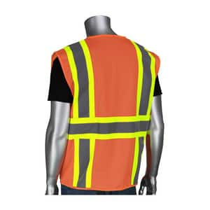 Protective Industrial Products Pip® XL Size Safety Vest with Zipper P302MVZPORXL